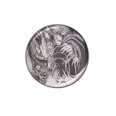 Chinese Dragon Tattoo Hat Clip Ball Marker (4 Pack) by Onesevenart