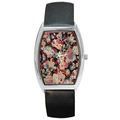 Japanese Ethnic Pattern Barrel Style Metal Watch by Onesevenart