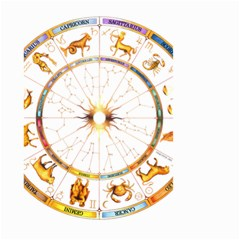Zodiac  Institute Of Vedic Astrology Small Garden Flag (two Sides) by Onesevenart
