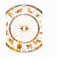 Zodiac  Institute Of Vedic Astrology Large Garden Flag (two Sides) by Onesevenart