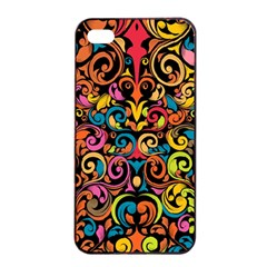 Art Traditional Pattern Apple Iphone 4/4s Seamless Case (black) by Onesevenart