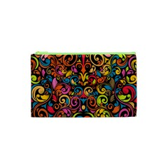 Art Traditional Pattern Cosmetic Bag (xs) by Onesevenart
