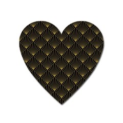 Abstract Stripes Pattern Heart Magnet by Onesevenart