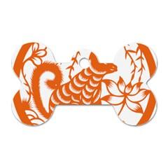 Chinese Zodiac Dog Dog Tag Bone (two Sides) by Onesevenart