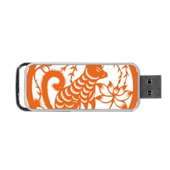 Chinese Zodiac Dog Portable Usb Flash (one Side) by Onesevenart