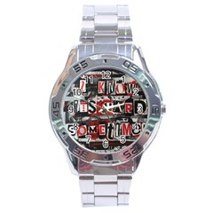 Top Lyrics   Twenty One Pilots The Run And Boys Stainless Steel Analogue Watch by Onesevenart