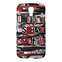 Top Lyrics   Twenty One Pilots The Run And Boys Samsung Galaxy S4 I9500/i9505 Hardshell Case by Onesevenart