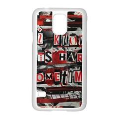 Top Lyrics   Twenty One Pilots The Run And Boys Samsung Galaxy S5 Case (white) by Onesevenart