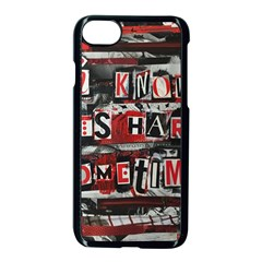 Top Lyrics   Twenty One Pilots The Run And Boys Apple Iphone 7 Seamless Case (black) by Onesevenart