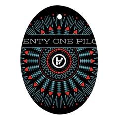 Twenty One Pilots Oval Ornament (two Sides) by Onesevenart