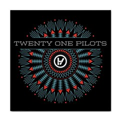 Twenty One Pilots Face Towel by Onesevenart