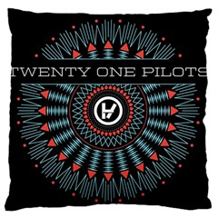 Twenty One Pilots Large Cushion Case (two Sides) by Onesevenart