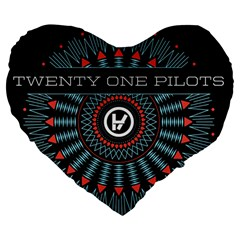 Twenty One Pilots Large 19  Premium Flano Heart Shape Cushions