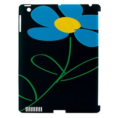 Whimsical Blue Flower Green Sexy Apple Ipad 3/4 Hardshell Case (compatible With Smart Cover) by Mariart