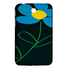 Whimsical Blue Flower Green Sexy Samsung Galaxy Tab 3 (7 ) P3200 Hardshell Case  by Mariart