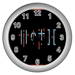 Twenty One Pilots Event Poster Wall Clocks (silver)  by Onesevenart