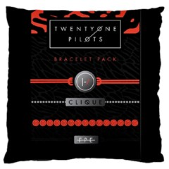 Twenty One Pilots Event Poster Large Cushion Case (one Side) by Onesevenart
