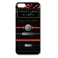 Twenty One Pilots Event Poster Apple Seamless Iphone 5 Case (clear) by Onesevenart