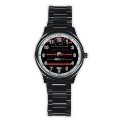 Twenty One Pilots Event Poster Stainless Steel Round Watch by Onesevenart