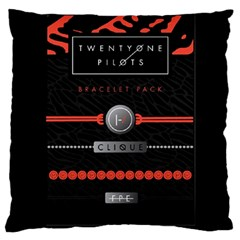 Twenty One Pilots Event Poster Large Flano Cushion Case (one Side) by Onesevenart