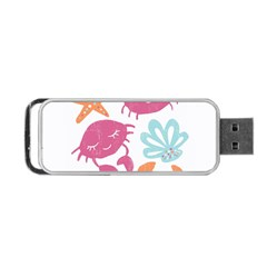 Animals Sea Flower Tropical Crab Portable Usb Flash (two Sides) by Mariart