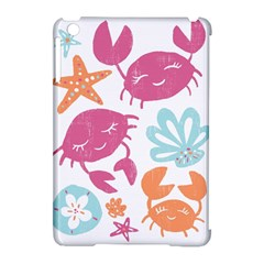 Animals Sea Flower Tropical Crab Apple Ipad Mini Hardshell Case (compatible With Smart Cover) by Mariart