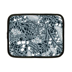 Abstract Floral Pattern Grey Netbook Case (small)  by Mariart