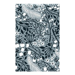 Abstract Floral Pattern Grey Shower Curtain 48  X 72  (small)  by Mariart