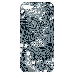 Abstract Floral Pattern Grey Apple Iphone 5 Hardshell Case by Mariart