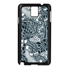 Abstract Floral Pattern Grey Samsung Galaxy Note 3 N9005 Case (black) by Mariart