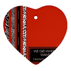 Poster Twenty One Pilots We Go Where We Want To Ornament (heart) by Onesevenart