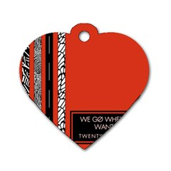 Poster Twenty One Pilots We Go Where We Want To Dog Tag Heart (two Sides) by Onesevenart