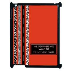 Poster Twenty One Pilots We Go Where We Want To Apple Ipad 2 Case (black) by Onesevenart