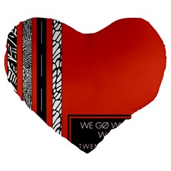 Poster Twenty One Pilots We Go Where We Want To Large 19  Premium Heart Shape Cushions by Onesevenart