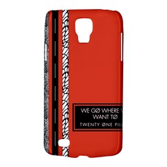 Poster Twenty One Pilots We Go Where We Want To Galaxy S4 Active by Onesevenart