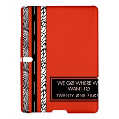 Poster Twenty One Pilots We Go Where We Want To Samsung Galaxy Tab S (10 5 ) Hardshell Case  by Onesevenart