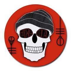 Poster Twenty One Pilots Skull Round Mousepads by Onesevenart