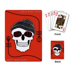 Poster Twenty One Pilots Skull Playing Card by Onesevenart