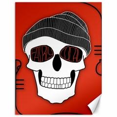 Poster Twenty One Pilots Skull Canvas 12  X 16   by Onesevenart