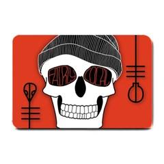Poster Twenty One Pilots Skull Small Doormat  by Onesevenart