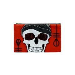 Poster Twenty One Pilots Skull Cosmetic Bag (small)  by Onesevenart