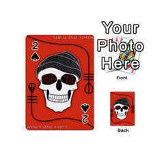 Poster Twenty One Pilots Skull Playing Cards 54 (mini)  by Onesevenart