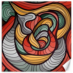 Beautiful Pattern Background Wave Chevron Waves Line Rainbow Art Canvas 16  X 16   by Mariart