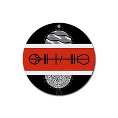 Poster Twenty One Pilots Rubber Coaster (round)  by Onesevenart