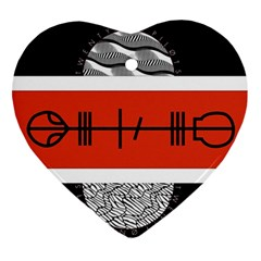 Poster Twenty One Pilots Heart Ornament (two Sides) by Onesevenart