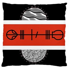 Poster Twenty One Pilots Large Cushion Case (one Side) by Onesevenart