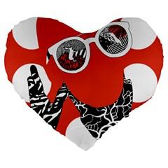 Twenty One Pilots Poster Contest Entry Large 19  Premium Heart Shape Cushions by Onesevenart