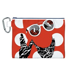 Twenty One Pilots Poster Contest Entry Canvas Cosmetic Bag (l) by Onesevenart