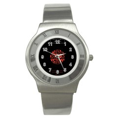 Albums By Twenty One Pilots Stressed Out Stainless Steel Watch by Onesevenart
