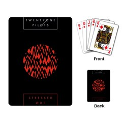 Albums By Twenty One Pilots Stressed Out Playing Card by Onesevenart